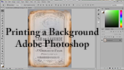 Printing a Digital Background Using Adobe Photoshop